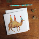 Party Camel Greetings Card
