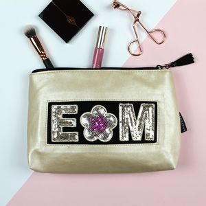 Personalised Frosted Almond Beauty Bag