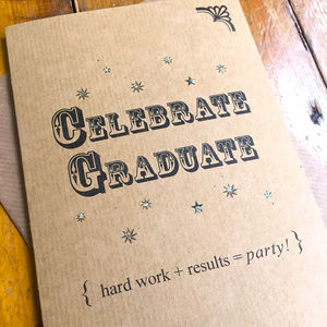 Celebrate Graduate Vintage Inspired Card - congratulations cards
