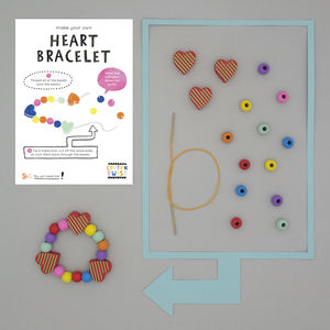 Make Your Own Heart Bracelet Kit - for children