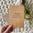 Five Year Wooden Anniversary Personalised Plaque