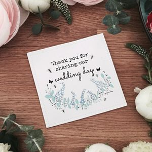 Thank You For Sharing Our Day Seed Favours - wedding favours