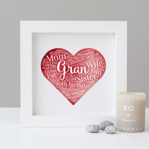 Personalised Watercolour 90th Birthday Gift - family & home