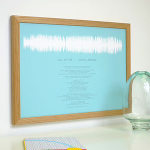 Soundwave Print With Song Lyrics - personalised