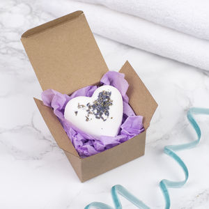 Handmade Love Heart Bath Bomb - wedding favours
