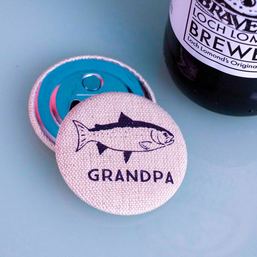 Personalised Fisherman's Magnetic Bottle Opener