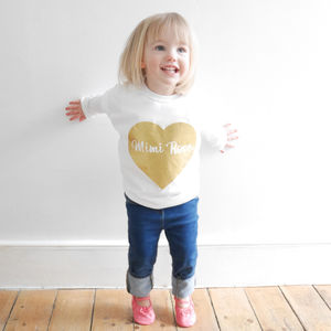 Personalised Glitter Heart T Shirt
