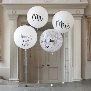 Set Of Four Wedding Giant Balloons - balloons