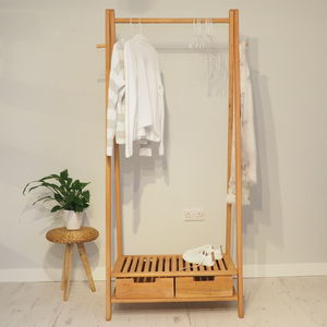 Wooden Clothes Rack Stockholm - bedroom