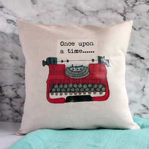 Personalised Vintage Typewriter Cushion - cushions