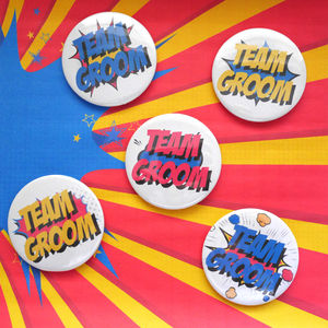 Team Groom Stag Party Badge