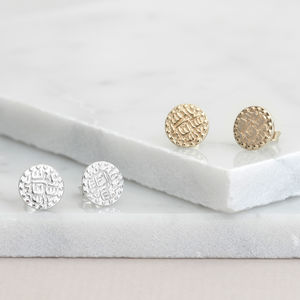 Prosperity Coin Stud Earrings - stylish studs