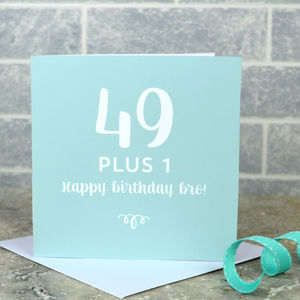 Personalised 50th Birthday Card