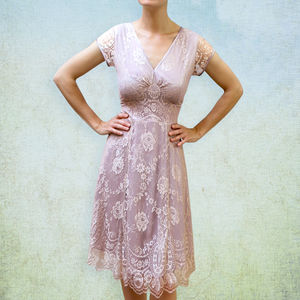 Lace Special Occasion Dress - women's fashion