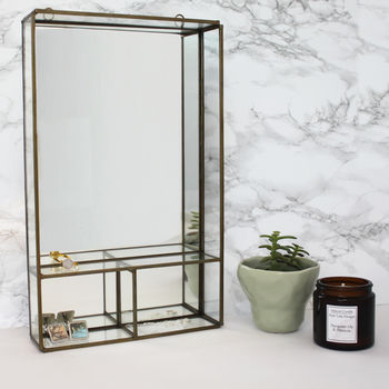 Brass Mirror With Shelves