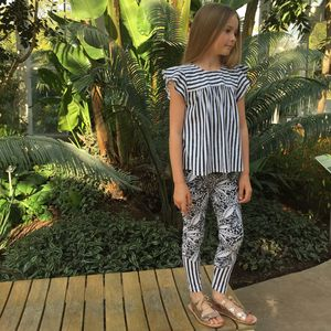 Tropical Printed Leggings - clothing