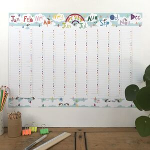 2021 Large Rainbow Wall Planner Calendar
