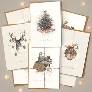Pack Of Bohemian Christmas Cards - cards & wrap
