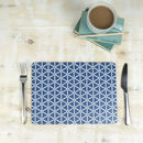 Karin Placemat, Blue Geometric Tablemat