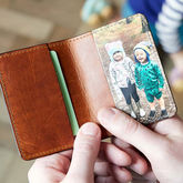 Personalised Leather Card Holder With Photo - accessories