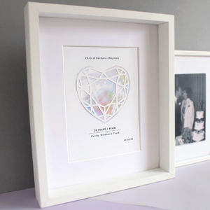 Pearl 30 Year Anniversary Personalised Papercut Print - shop by occasion