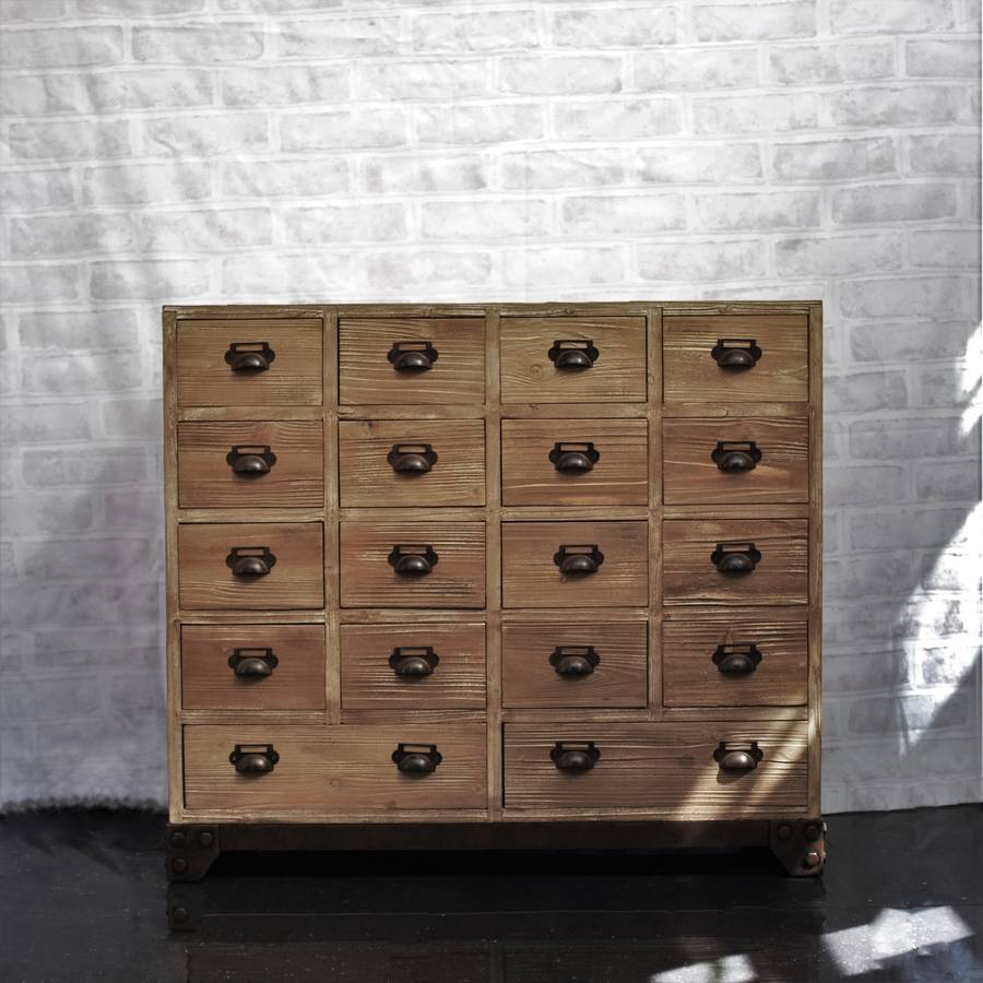 18 Drawer Apothecary Cabinet By Cambrewood