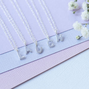 Alphabet Sterling Silver Initial Personalised Necklace - necklaces & pendants