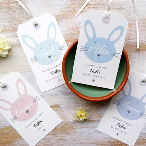 Personalised Easter Bunny Egg Hunt Gift Tags