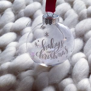 Babies First Christmas Flat Bauble