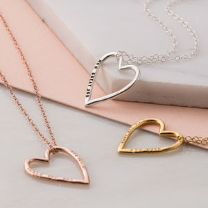 Personalised Medium Heart Necklace - best valentine's gifts