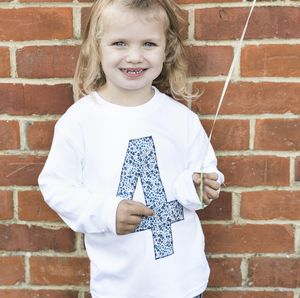 4th Birthday Appliqué Top With Liberty Of London