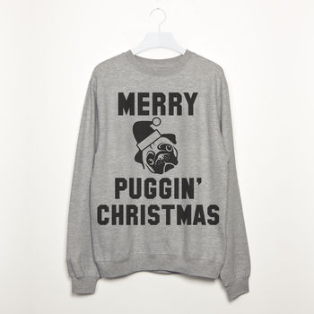 Merry Puggin' Christmas Women's Pug Slogan Sweatshirt