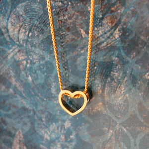 Children's Gold Plated Heart Charm Necklace - children's jewellery