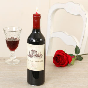 Red Wine Bottle Candle - weddings