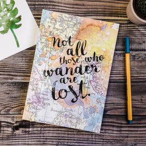 Not All Those Who Wander… Travel Journal - writing