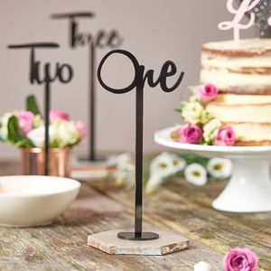 Script Wedding Table Number Decorations - table numbers