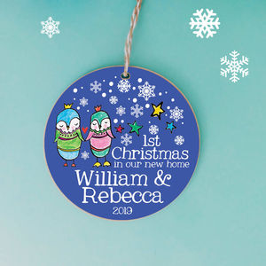 Personalised Couples First Christmas