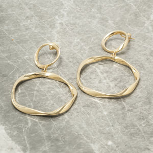Double Hoop Chandelier Earrings