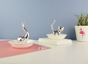 Personalised Elephant Or Cat Ring Stand And Dish