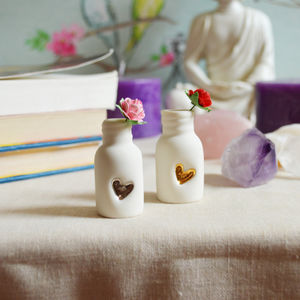 Paper Rose And Embossed Heart Mini Bottle - view all new