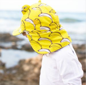 Children's Baseball Sunhat With Neck Flap - children's hats