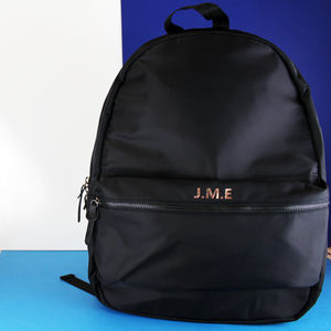Men's Monogrammed Backpack - gifts for him