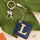 Personalised Luxury Leather Initial And Keyring