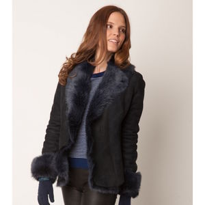 Toscana Sheepskin Short Jacket/Coat - black friday sale