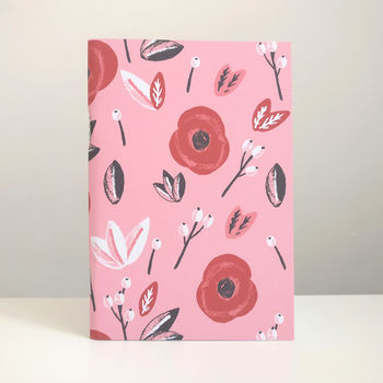 Poppies Floral Illustrated Notebook