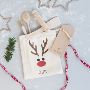 Kids Christmas Personalised Baking Kit - kitchen accessories