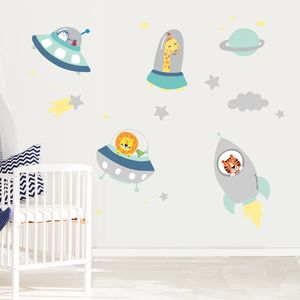 Space Buddies Fabric Wall Stickers - baby's room