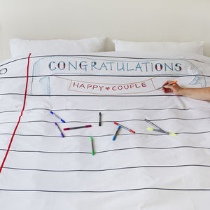 Doodle Duvet Cover Double, To Personalise