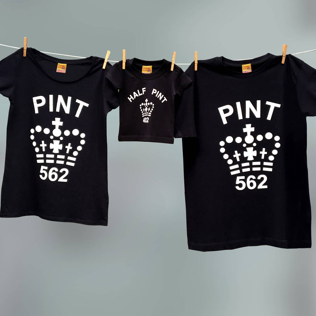 3aba4943 father's day matching pint / half pint t shirt set by twisted twee ...