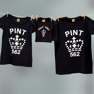 Family Matching Pint / Half Pint T Shirts Set - men's fashion